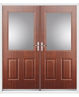 Windsor French Rockdoor in Mahogany with Glazing