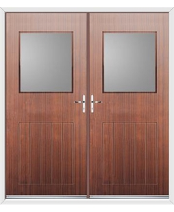 Cottage View Light French Rockdoor in Mahogany with Glazing