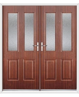Jacobean French Rockdoor in Mahogany with Gluechip Glazing