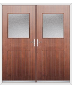 Cottage View Light French Rockdoor in Mahogany with Gluechip Glazing