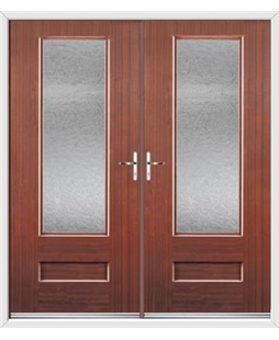 Vogue French Rockdoor in Mahogany with Gluechip Glazing