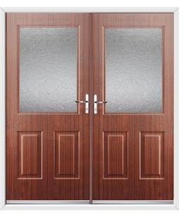 Windsor French Rockdoor in Mahogany with Gluechip Glazing