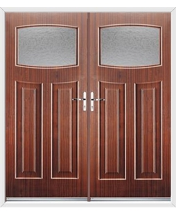 Newark French Rockdoor in Mahogany with Gluechip Glazing