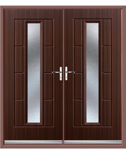 Vermont French Rockdoor in Mahogany with Gluechip Glazing