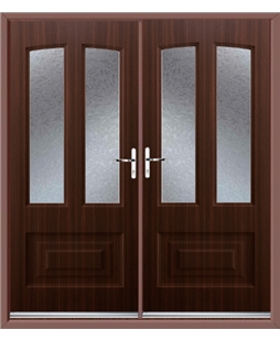 Illinois French Rockdoor in Mahogany with Gluechip Glazing