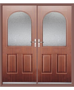 Kentucky French Rockdoor in Mahogany with Gluechip Glazing