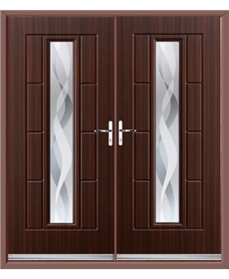 Vermont French Rockdoor in Mahogany with Haze