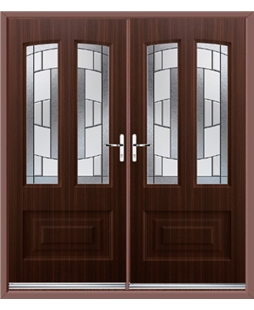 Illinois French Rockdoor in Mahogany with Inspire