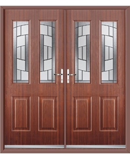 Jacobean French Rockdoor in Mahogany with Inspire