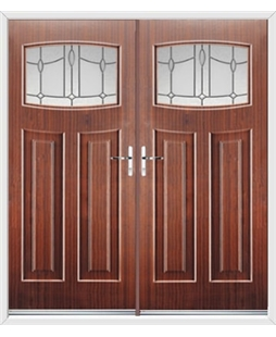 Newark French Rockdoor in Mahogany with Lantern Glazing