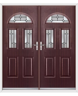 Tennessee French Rockdoor in Mahogany with Linear