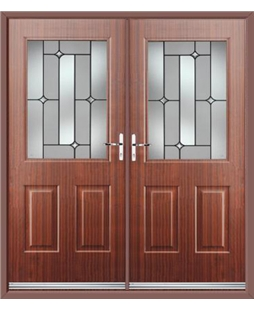 Windsor French Rockdoor in Mahogany with Linear