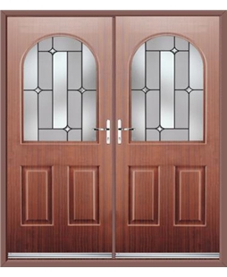 Kentucky French Rockdoor in Mahogany with Linear