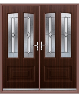 Illinois French Rockdoor in Mahogany with Pinnacle