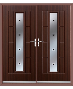 Vermont French Rockdoor in Mahogany with Quadra
