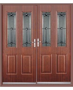 Jacobean French Rockdoor in Mahogany with Scorpio