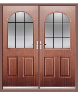 Kentucky French Rockdoor in Mahogany with Square Lead