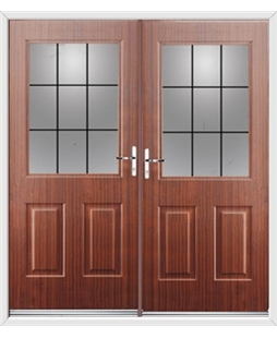 Windsor French Rockdoor in Mahogany with Square Lead