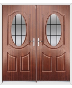 Montana French Rockdoor in Mahogany with Square Lead