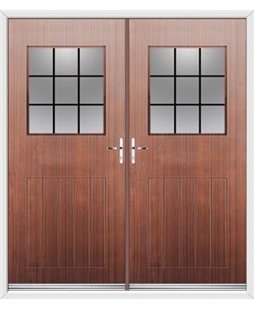 Cottage View Light French Rockdoor in Mahogany with Square Lead
