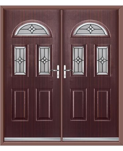 Tennessee French Rockdoor in Mahogany with Summit