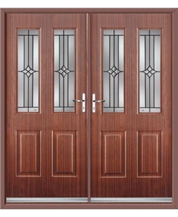 Jacobean French Rockdoor in Mahogany with Summit