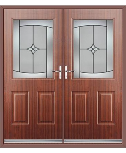 Windsor French Rockdoor in Mahogany with Summit