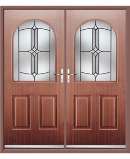 Kentucky French Rockdoor in Mahogany with Summit