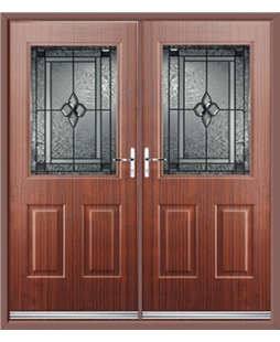 Windsor French Rockdoor in Mahogany with Triton Glazing