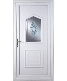 Portsmouth coloured bevel upvc door value doors uk for Coloured upvc doors