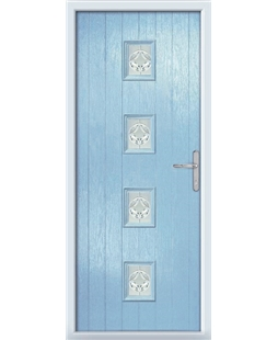 The Uttoxeter Composite Door in Blue (Duck Egg) with Mirage