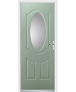 Ultimate Montana Rockdoor in Chartwell Green with Glazing
