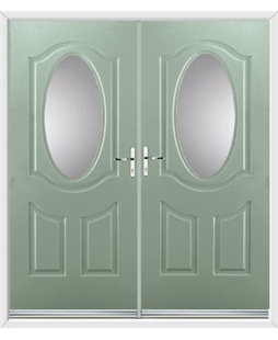 Montana French Rockdoor in Chartwell Green with Glazing