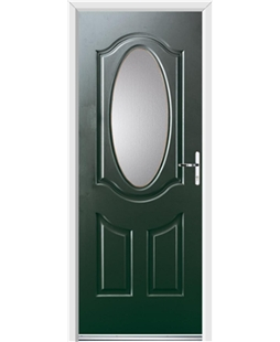 Ultimate Montana Rockdoor in Emerald Green with Glazing