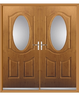 Montana French Rockdoor in Irish Oak with Glazing