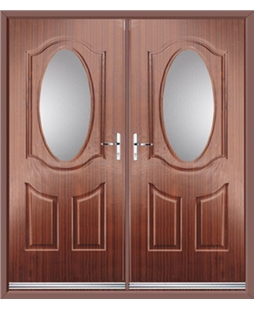 Montana French Rockdoor in Mahogany with Glazing