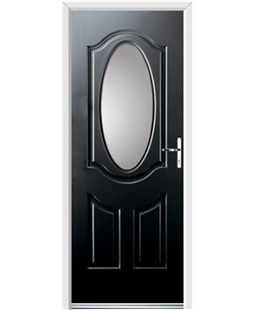 Ultimate Montana Rockdoor in Onyx Black with Glazing