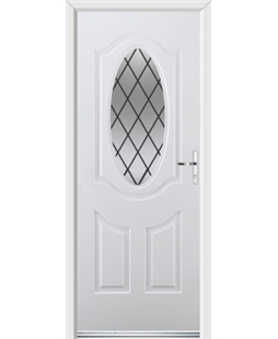 Ultimate Montana Rockdoor in Blue White with Diamond Lead