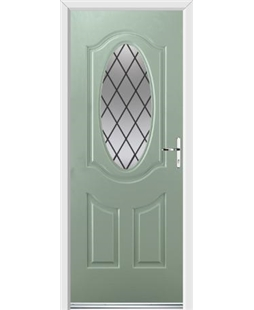 Ultimate Montana Rockdoor in Chartwell Green with Diamond Lead