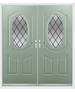 Montana French Rockdoor in Chartwell Green with Diamond Lead