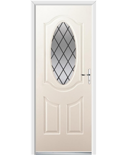 Ultimate Montana Rockdoor in Cream with Diamond Lead
