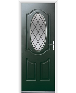 Ultimate Montana Rockdoor in Emerald Green with Diamond Lead