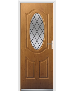 Ultimate Montana Rockdoor in Irish Oak with Diamond Lead