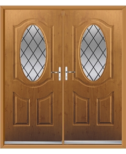 Montana French Rockdoor in Irish Oak with Diamond Lead