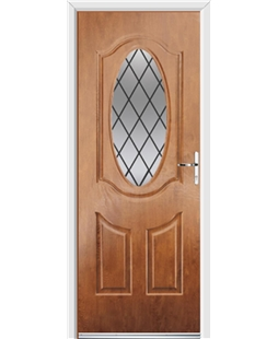 Ultimate Montana Rockdoor in Light Oak with Diamond Lead