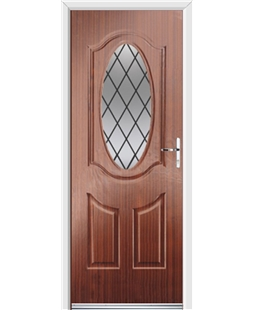 Ultimate Montana Rockdoor in Mahogany with Diamond Lead