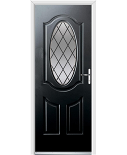 Ultimate Montana Rockdoor in Onyx Black with Diamond Lead
