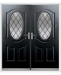 Montana French Rockdoor in Onyx Black with Diamond Lead