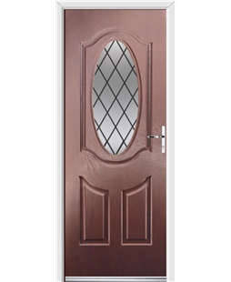 Ultimate Montana Rockdoor in Rosewood with Diamond Lead