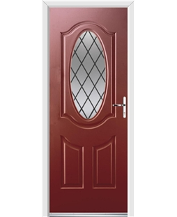 Ultimate Montana Rockdoor in Ruby Red with Diamond Lead